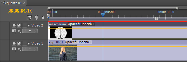video editing mascherino mirino
