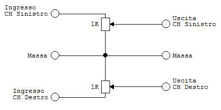 schema elettrico regolatore volume cuffie