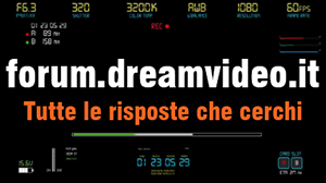 Forum Dreamvideo per videomakers, telecamere, editing video, editing audio, streaming